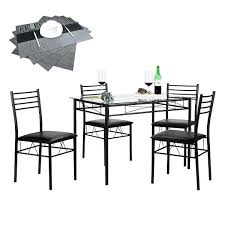 black glass dining room table glass dining table set with 4 chairs kitchen table set black