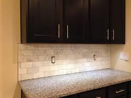 charming kitchen cabinet with cabinet hardware also subway tile backsplash and quartz countertops plus bullnose edge