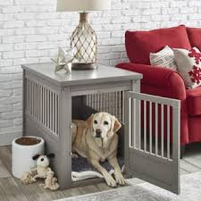 ecoFLEX Dog Crate/ End Table with Stainless Steel Spindles (More options  available)