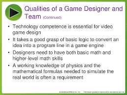 Game Designer Skills Chapter 1 My Role On The Team Chapter 1 My Role On The Team
