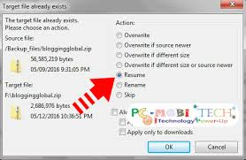 How To Resume Interrupted Download Upload In Filezilla