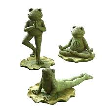 frog garden statue frog garden statue grasslands road lane cement yoga posed home figure frog garden