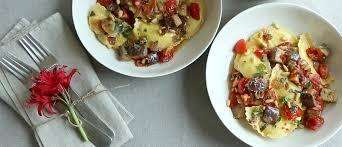 italian sausage ravioli with eggplant