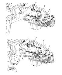 2007 jeep mander engine diagram 68001160aa genuine mopar hose heater supply