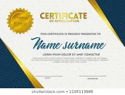 Certification Template Certificate Template A 4 Textures Background Vector Stock Vector