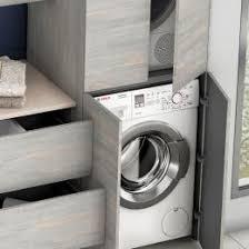 La salle de bain est parfois aussi destinée à accueillir lave linge et sèche linge. Meuble Buanderie Une Salle De Bains Fonctionnelle Ambiance Bain