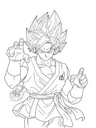Bringing the characters to life with these pictures kids are sure to be enthralled. Songoku Super Saiyajin Blue Dragon Ball Z Kids Coloring Pages