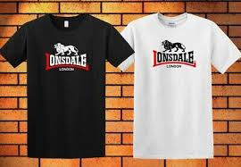 Lonsdale Size Chart New Lonsdale Classic Logo Lion T Shirt Black White Short Sleeve Cool Shirt 3 Ha1 Ebay