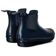 Find many great new & used options and get the best deals for hunter womens original refined chelsea boots black at the best online prices at ebay! Hunter Original Chelsea Gloss Women S Wellington Boots Navy Country Attire Us
