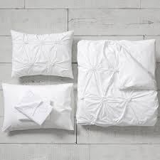 organic ruched rosette duvet bedding set with duvet cover duvet insert sham sheet set pillow i pbteen