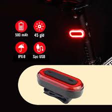 Led Đuôi Chớp Nhấp Nháy Xe Đạp BK400 100 Lumens Độ Sáng Cao 6 Chế Độ Sạc  Điện USB MaiLee - Đèn xe đạp