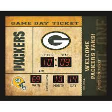 Team Sports America Green Bay Packers Ticket Stub Clock