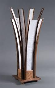 lamp the table lamp hand carved walnut paper rocket age lighting hokkaido end shoji