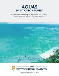 aqua paint colorPPG Pittsburgh Paints  Aqua Paint Colors
