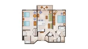 Disneyu0027s Saratoga Springs Resort 2 Bedroom Villa