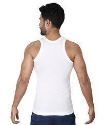 Rupa Frontline Mens Cotton Vest White 100 Combo Of 6