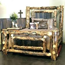 Queen Size Log Bed Frame Beds King Image Of Traditional Wood ...