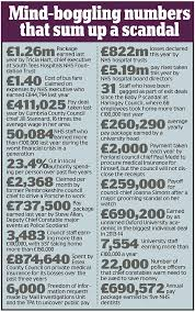 Charity Ceo Salaries Chart Uk Daily Mail Investigation Reveals Deals For Council Police