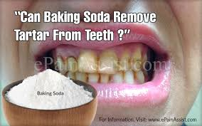 can baking soda help to remove tartar from teeth