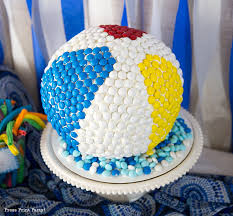 Beach Ball Cake Decorations Delectable How To Make A Beach Ball Cake W Mms Press Print Party