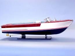 riva junior 32 race boat model wooden ship new