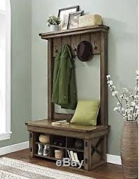 Hall Coat Rack With Storage Hall Tree With Storage Bench Shoe For Entryway Coat Rack Foyer 7