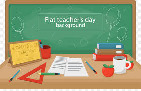 student teachers day blackboard school creative teachers day desk vector