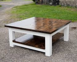 remarkable white square coffee table of tables incredible and brown rustic wood