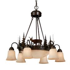 cascadia lighting bryce 28 5 in 9 light burnished bronze rustic tinted glass shaded chandelier