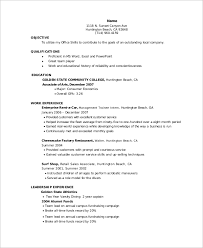 Entry Level Management Resume Examples Entry Level Resume Example 10 Samples In Word Pdf