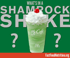 what s in a mcdonald s shamrock shake