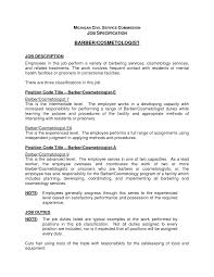 Resume For Cosmetology Cosmetologist Job Description Template Jd Templates Resume For 18