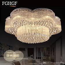 large luxury flower shape chandeliers crystal lamp chandeliers lighting fixtures round re living room hotel lights led lamp gold chandelier flush mount