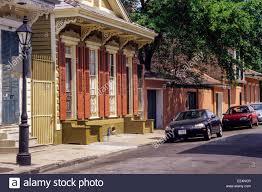 New Orleans, Louisiana. French Quarter. Double Shotgun-Style House ...