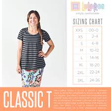 Lularoe Classic Shirt Size Chart Coolmine Community School