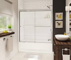 maax gallery 60 x 30 2 piece fiberglass bath and shower kit with left drain at menards