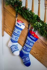 christmas stocking set. Exellent Christmas White And Blue Nordic Christmas Stocking Set On P