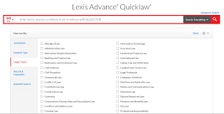 Lexis Advance Quicklaw Quicklaw