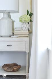 one room challenge blue and white guest bedroom reveal before and after makeover night stand
