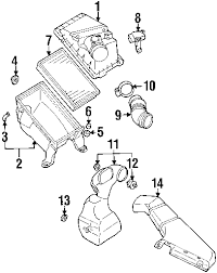 parts com® subaru impreza air intake oem parts 2006 subaru impreza wrx tr h4 2 5 liter gas air intake