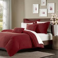 madison park prescott 5 piece wide cut corduroy duvet cover set red king