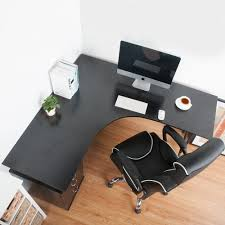 large corner desk home office. LIFE CARVER L-Shape Large Corner Computer Desk PC Table Home Office (Black): Amazon.co.uk: Kitchen \u0026 F