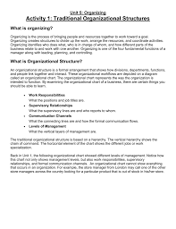 What Does An Organizational Chart Show File