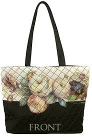 National Museum of Decorative Painting & Quilted Floral Tote Bag Adamdwight.com