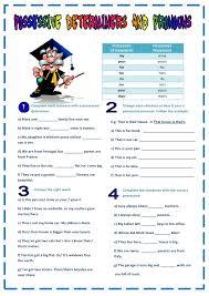 Possessive Pronouns Worksheets Worksheets