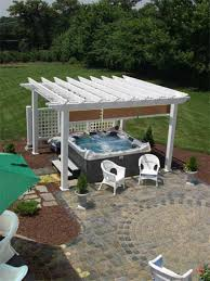 hot tub surround ideas outdoor hot tub landscaping small two