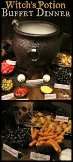 Witch's Potion Halloween Buffet Dinner, complete with lots of easy