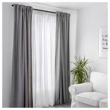 100% Cotton Ikea White Curtains Bedroom Living Room Window Sheer ...
