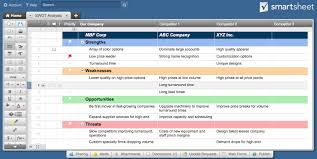 14 swot analysis templates smartsheet make real time updates to your swot analysis and invite infinite collaborators to keep everyone on the same page ultimately using smartsheet s template