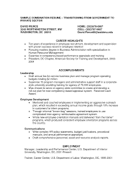 Hybrid Resume Example Examples Of Resumes Executive Combination